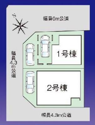【区画図】新築戸建て さいたま市第10南区太田窪
