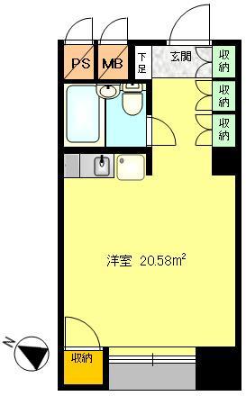 西向きの窓は明るく事務所スペースとしては使いやすい間取りです。勉強用のスペースやリモートワークスペースとして利用はいかがでしょうか?