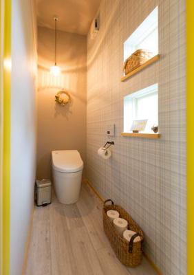 照明効果もプラスでトイレもお洒落な空間に
