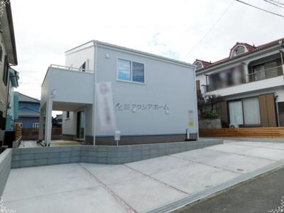 【前面道路含む現地写真】入間市大字小谷田・全2棟 新築一戸建 A号棟