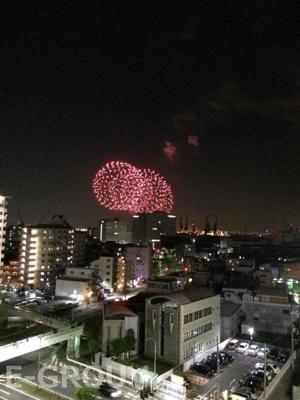 神戸の花火がお部屋から一望できます!!