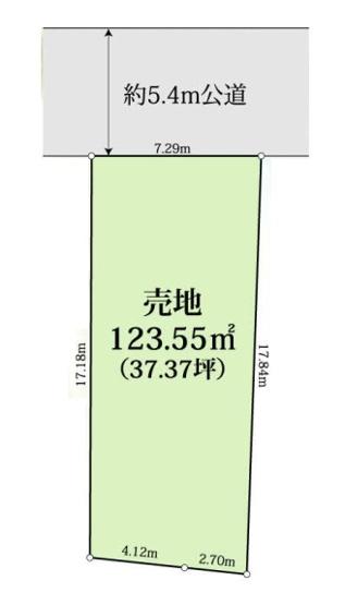 区画図 123.55㎡(37.37坪)