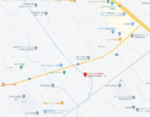 【地図】売地:太田市上小林町