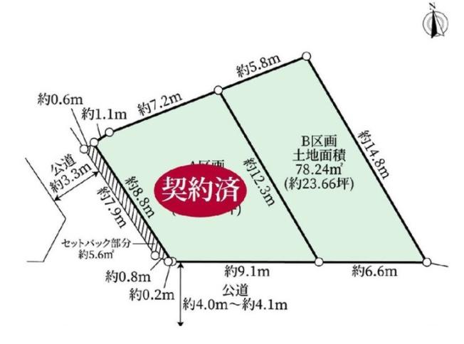 【土地図】世田谷区上馬3丁目 売地