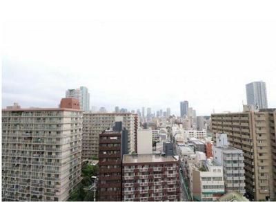 梅田方面の眺望です。