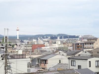 京都タワーが望めます