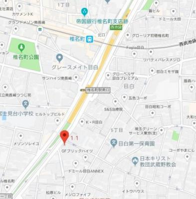 【地図】プレール・ドゥーク目白