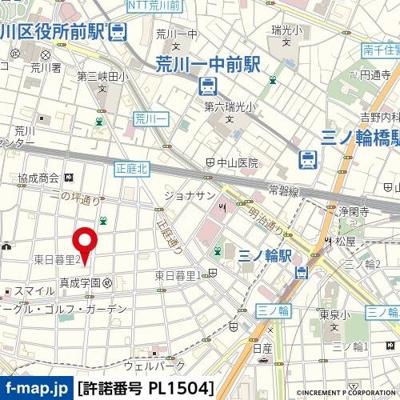 【地図】Le-lionVranche'日暮里East
