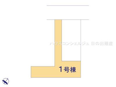 【区画図】名古屋市中村区橋下町20-72【仲介手数料無料】新築一戸建て 1号棟