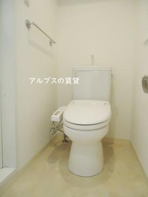 嬉しい温水洗浄便座ついてます。同一仕様