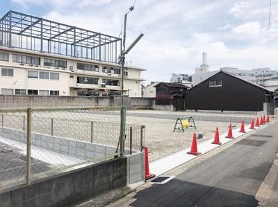 【前面道路含む現地写真】岸和田市沼町売土地 2号地