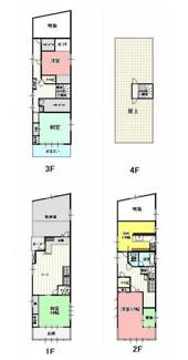 岐阜市金園町 鉄骨造3階建ての中古住宅 屋上あります。