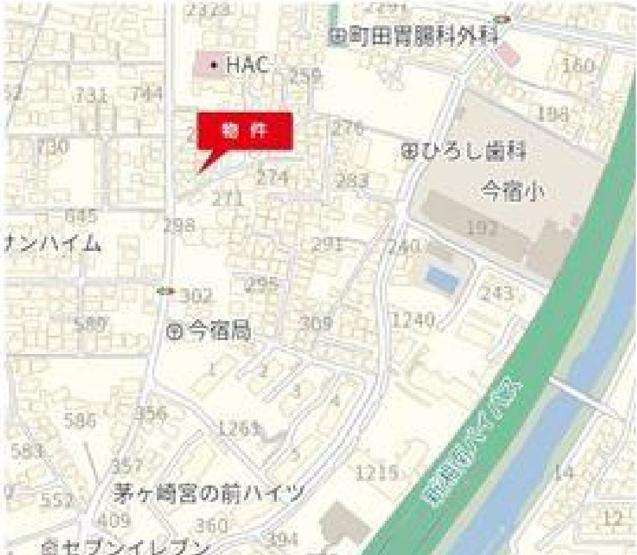 【地図】今宿 建築条件なし