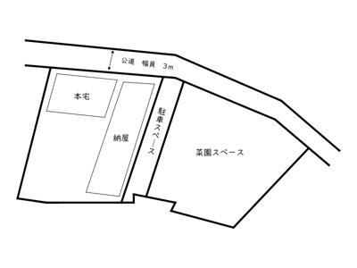 【区画図】相生市若狭野町野々/中古戸建