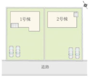 1号棟 カースペース2台以上可能です。