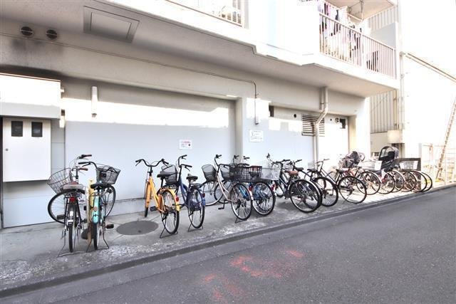 自転車が停められます