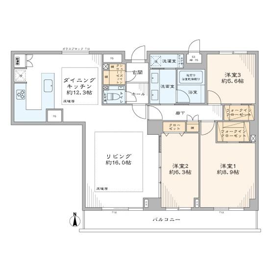 三軒茶屋シティハウス:専有面積110平米超の3LDKエアコン付きリノベーション物件はフラット35s&住宅ローン控除利用可能です!