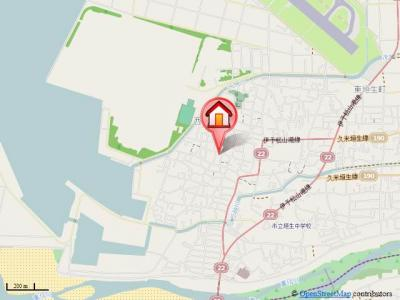 【地図】ガーデン西垣生・