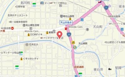 【地図】天山ハイツⅡ
