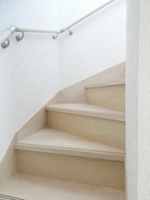 手すり付き階段です