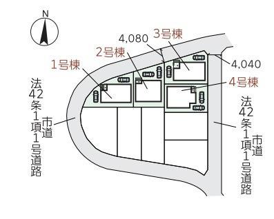 区画図です。4号棟