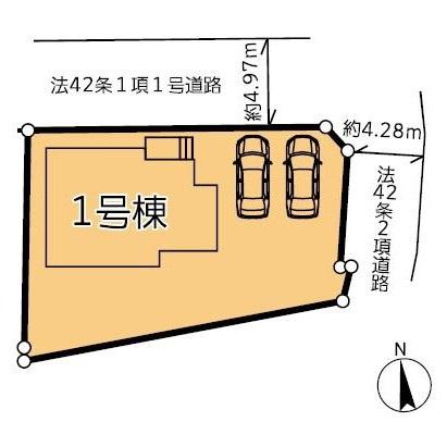 1号棟 カースペース2台可能です。本日、建物内覧できます。住ムパルまでお電話下さい!