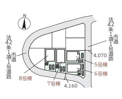 区画図です。6号棟