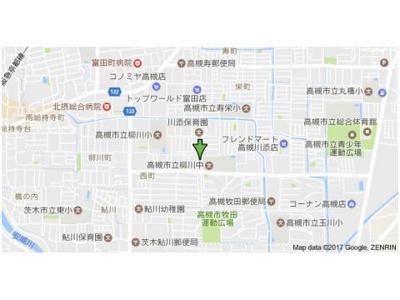 【地図】西町ハイツ