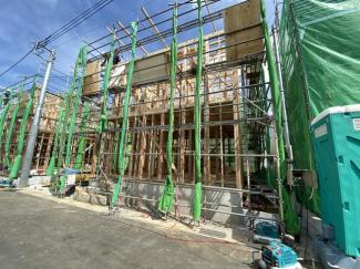 全6棟の開発分譲住宅で全棟南向きです。