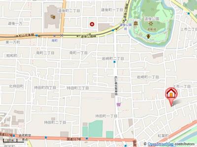 【地図】グリーンコート上市 B棟