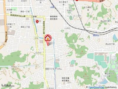 【地図】リリガーデン別府