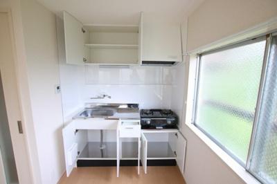 菅田ビル キッチンはガスコンロ設置可のワイドキッチン