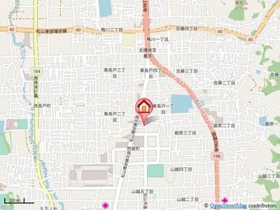 【地図】カルム サンリットA Ⅰ