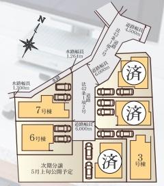 【区画図】上麻生5丁目 新築戸建全7棟