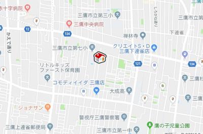 【地図】レオパレスBONHEUR弐番館(36037-105)