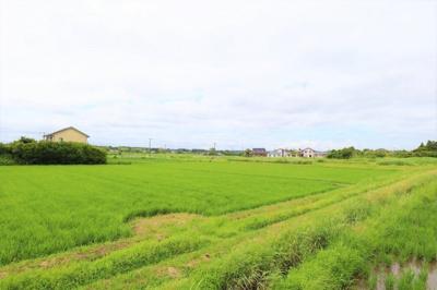 物件北側には田園風景が広がっております!