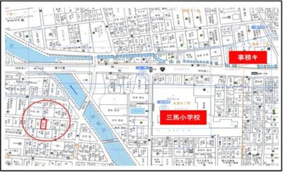 【地図】横川土地