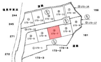 【土地図】館山市香173-7