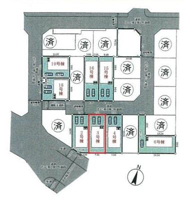 【区画図】神戸市垂水区青山台5丁目 3号棟 新築戸建