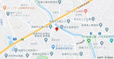 【地図】シエテ高槻 (株)Roots