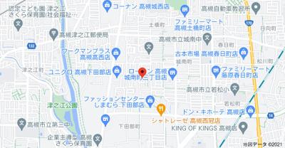 【地図】下田部町1丁目テラスハウス (株)Roots