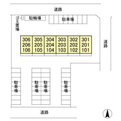 【区画図】プラムマンション