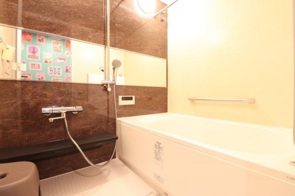 【浴室】「サーモバスS」採用!お湯が冷めにくく光熱費の節約にもなります。