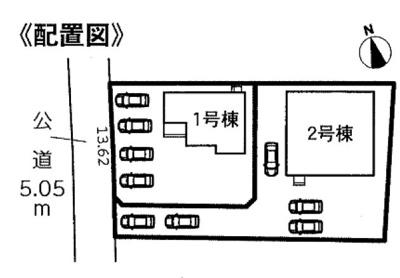 【区画図】周智郡森町飯田 6期 新築一戸建て 2号棟 HM