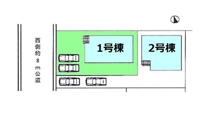 【区画図】現地写真掲載 新築 高崎市中居町KF1-1