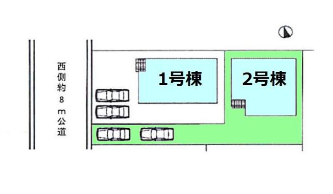 【区画図】現地写真掲載 新築 高崎市中居町KF1-2