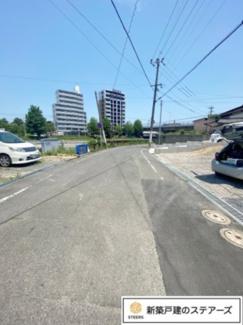 前面道路含む現地写真です。お気軽にお問い合わせください。