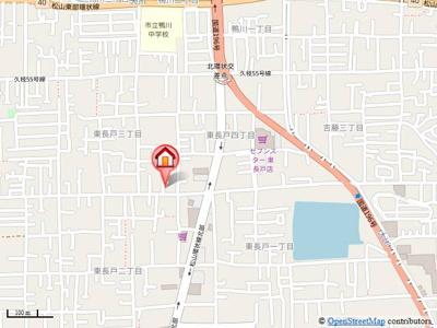 【地図】フレッシュ東長戸