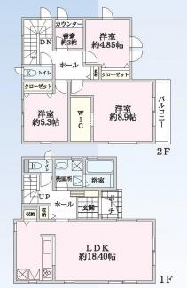 千葉市若葉区若松町 新築一戸建て 都賀駅 テレワークに便利な書斎付きです♪