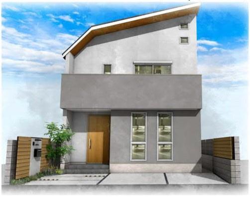 【外観パース】宮の坂徒歩2分!資産性と住み良い住居新築戸建!